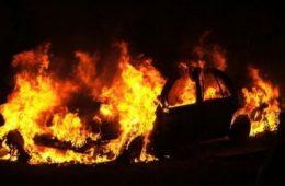 Автомобиль Volkswagen загорелся в Сафонове