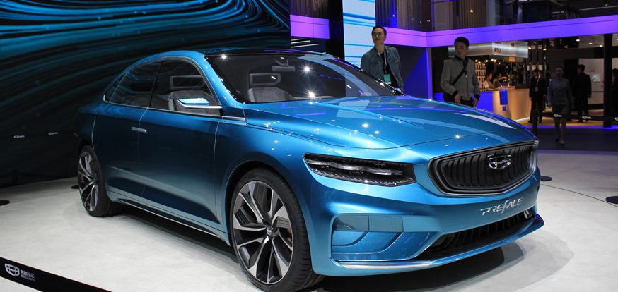 Большой седан Geely Preface: новое лицо и платформа Volvo