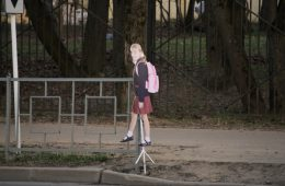 В Смоленске вдоль дорог появились картонные девочки
