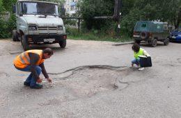 Жёсткое столкновение в посёлке Хиславичи