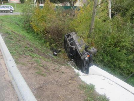 Пассажир искорёженной иномарки получил телесные повреждения
