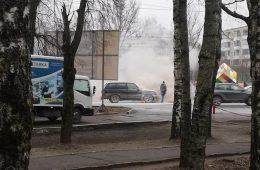 В Смоленске на светофоре загорелась машина