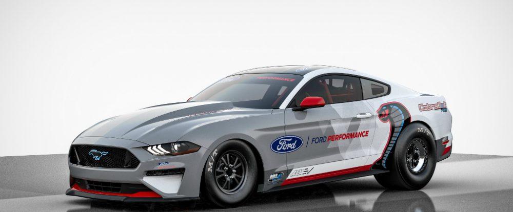Ford Mustang превратили в 1400-сильный бесшумный дрэгстер с парашютом
