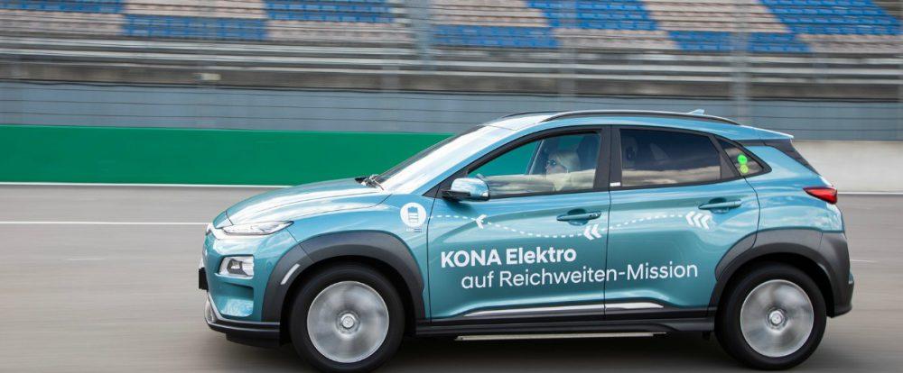 Электрический кроссовер Hyundai проехал более 1000 км без подзарядки