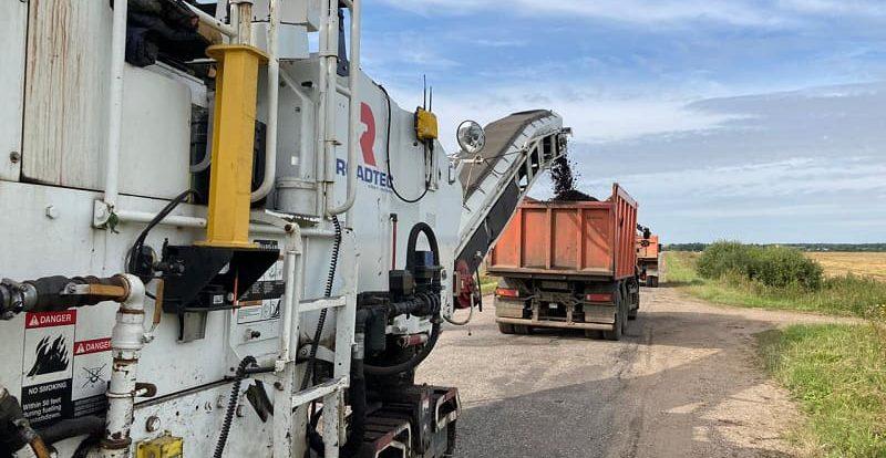 Смоленскавтодор приступил к ремонту дороги в Гагаринском районе
