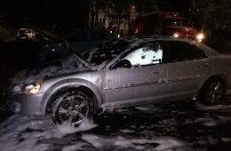 В Смоленской области загорелся «Dodge»