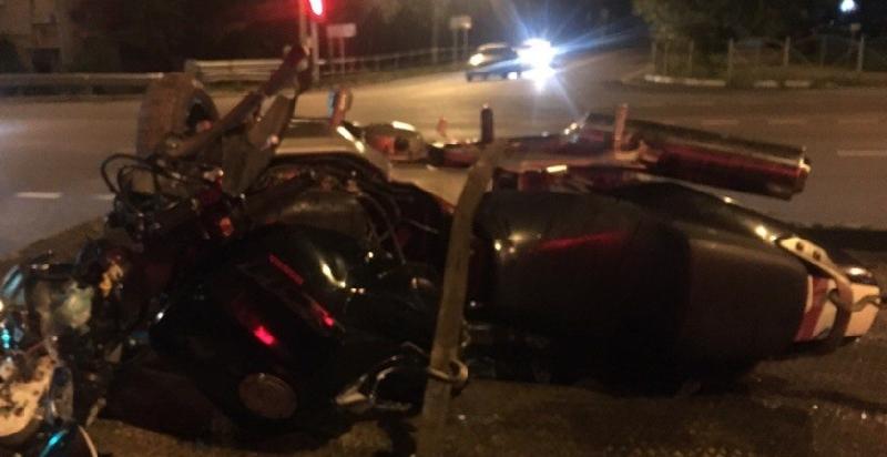 В Смоленске за один день случилось два ДТП с мотоциклом «Хонда»