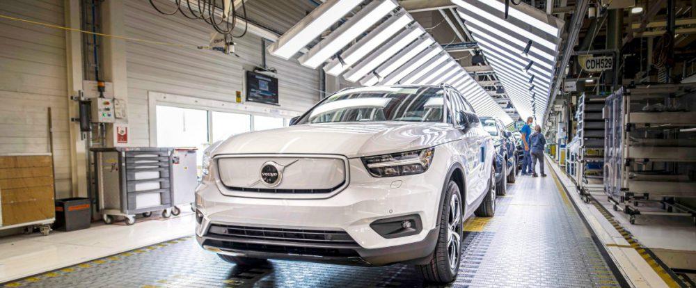 Стартовало производство первого электрокара Volvo