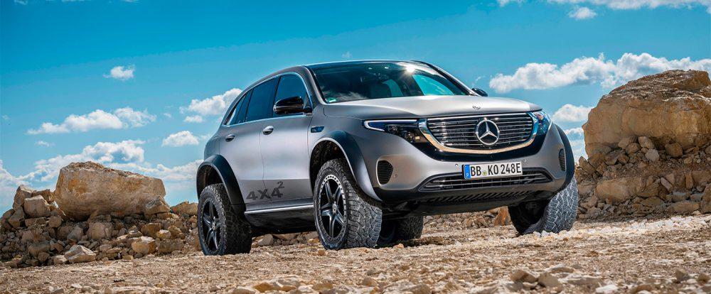 Mercedes подготовил кроссовер EQC к тяжелому бездорожью