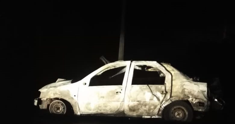В Шумячском районе на ходу загорелся «Renault Logan»
