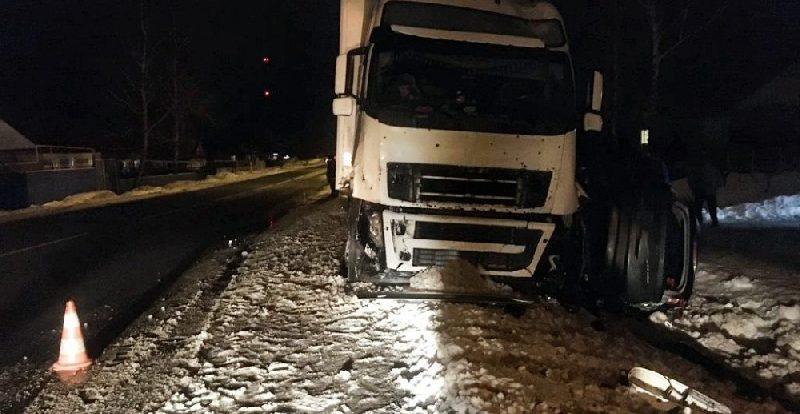 Смолянин влетел под грузовик в Липецкой области