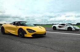 Два очень мощных McLaren посоревновались в дрэговом заезде