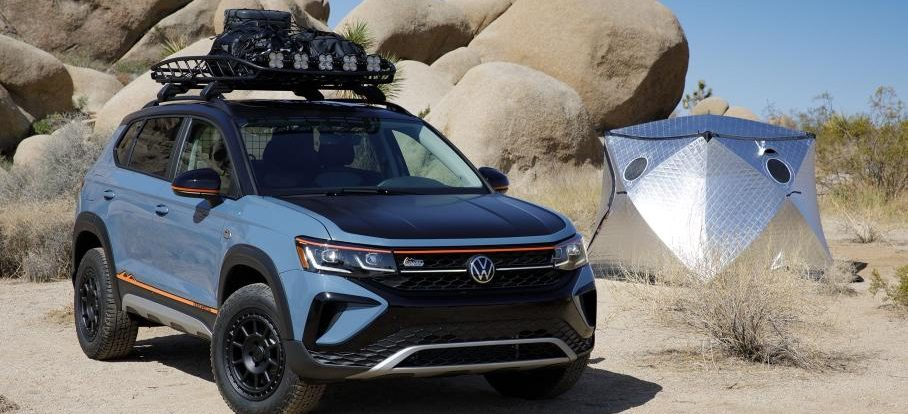 Из Volkswagen Taos сделали кроссовер для путешествий с компасом в зеркале