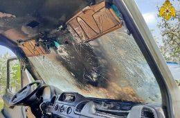В Вязьме горел Mercedes-Benz