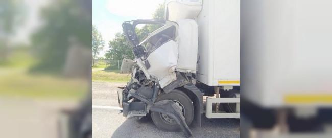 В Смоленской области на трассе «М-1» столкнулись большегруз и трактор