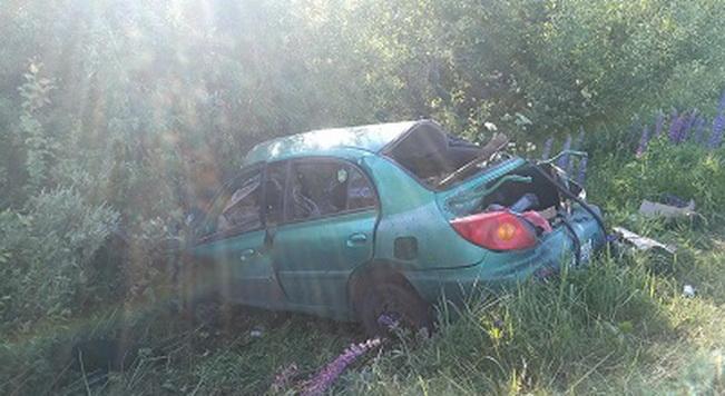 В Демидовском районе иномарка вылетела в кювет и врезалась в дерево