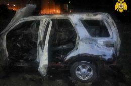 Ночью в Новосельцах загорелся «Ford Maverick»