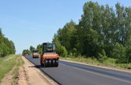 Смоленскавтодор ремонтирует дорогу Рославль-Ельня-Дорогобуж-Сафоново