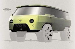 УАЗ опубликовал изображение «Буханки» будущего от стороннего дизайнера