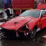 Водитель редчайшего Ferrari не справился с управлением и превратил суперкар в утиль