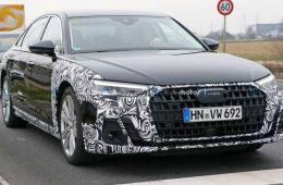 Audi тестирует обновлённый A8: седан проехался на камеру