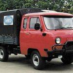 Посмотрите на необычный УАЗ «Головастик» для дальнобойщиков