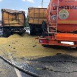В Починковском районе столкнулись два большегрузных автомобиля