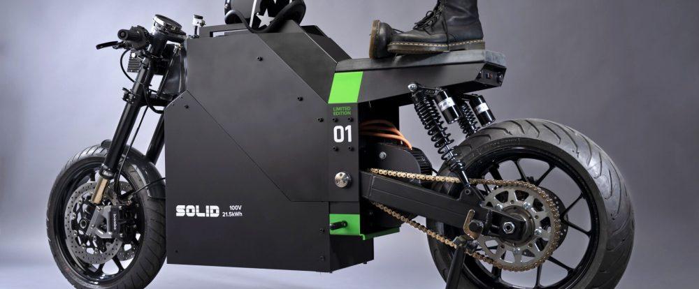 Solid CRS-01: электоромотоцикл в стиле Tesla Cybertruck из Нидерландов