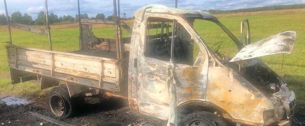 В Ельнинском районе сгорел автомобиль «Газель»