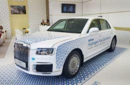 В России представлен первый седан Aurus на водороде