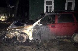 Ночью в Смоленском районе горели две легковушки